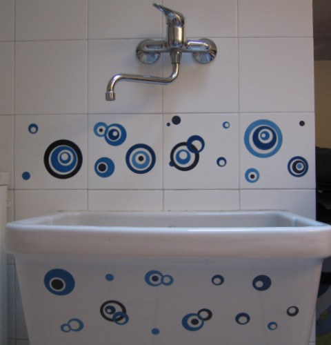 Decorazioni stickers for Decorazioni adesive piastrelle