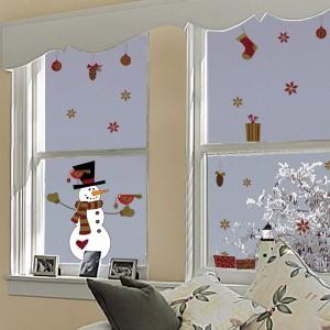 Decori parete stickers - Addobbi natalizi per le finestre ...